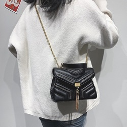 Shoespie Rivet PU Rectangle Crossbody Bags