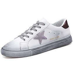 Shoespie Low-Cut Upper Lace-Up Star Round Toe Skate Shoes