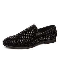 Shoespie Men's Slip-On Low-Cut Upper PU Thin Shoes