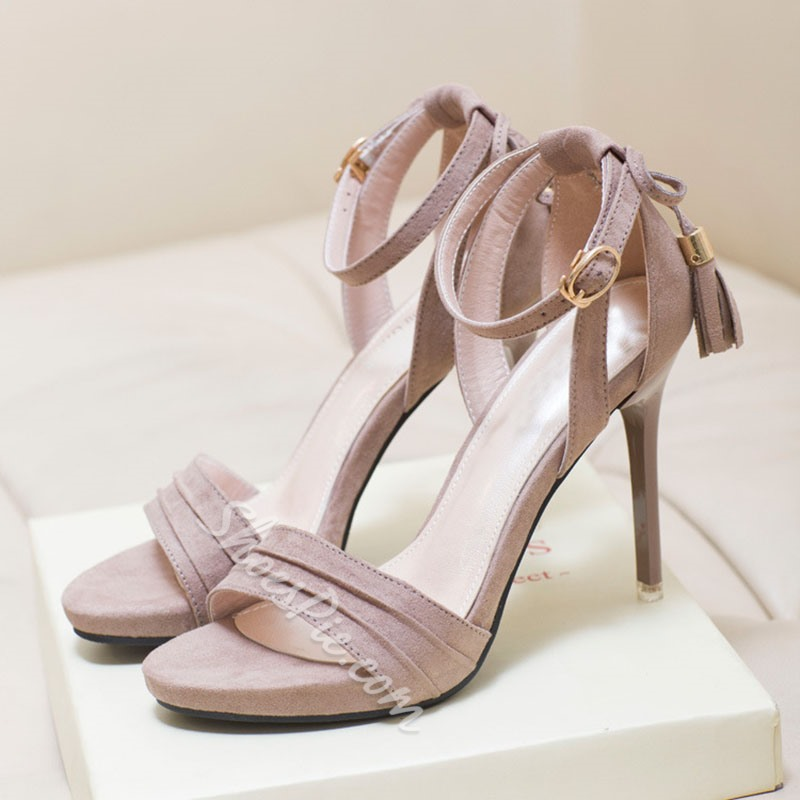 Shoespie Trendy Stiletto Heel Open Toe Heel Western Sandals