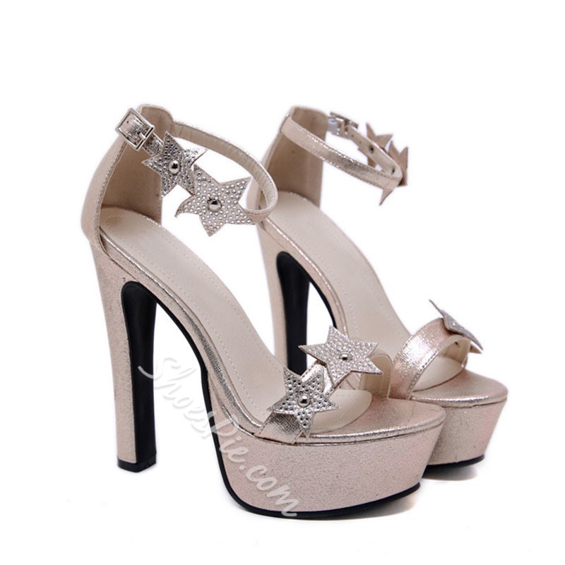 Shoespie Stylish Open Toe Buckle Heel Covering Western Sandals