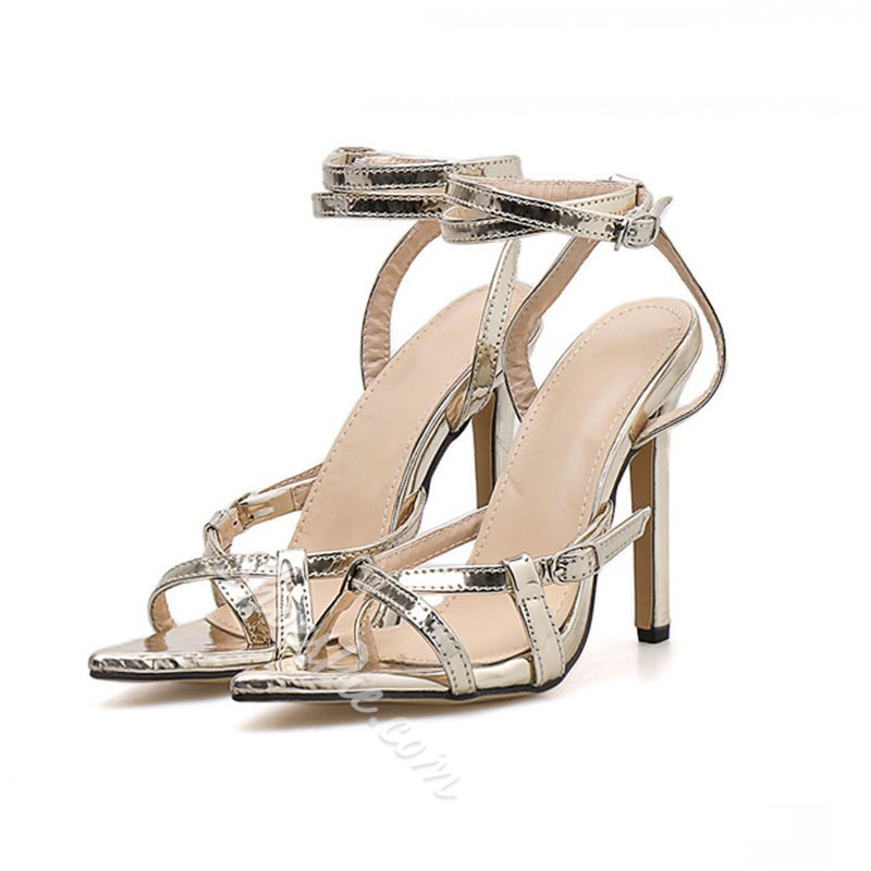 Shoespie Stylish Line-Style Buckle Toe Ring Buckle Sandals