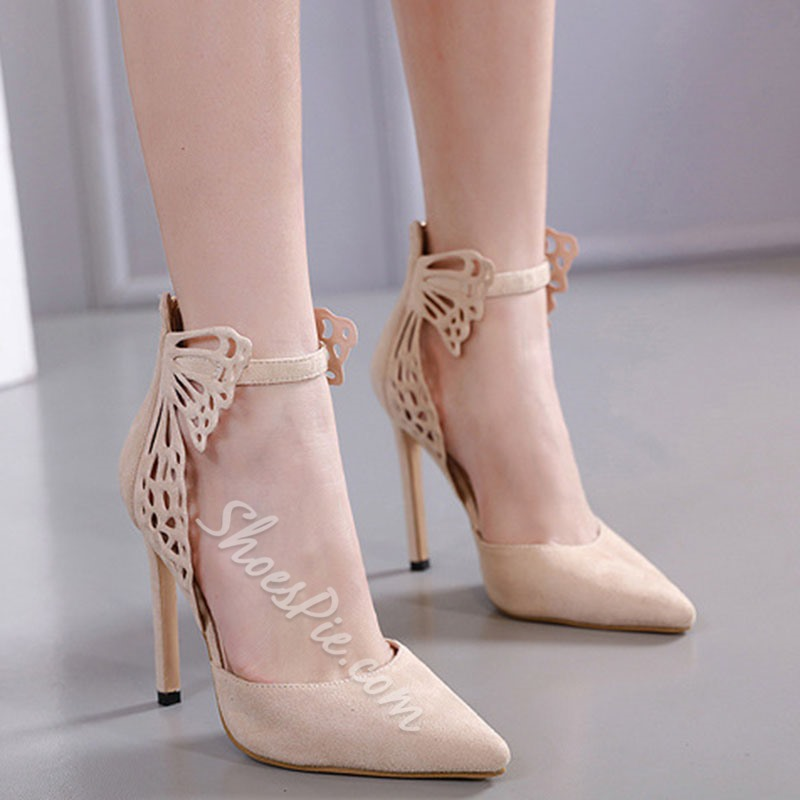 Shoespie Sexy Stiletto Heel Thread Zipper 11.5cm Thin Shoes