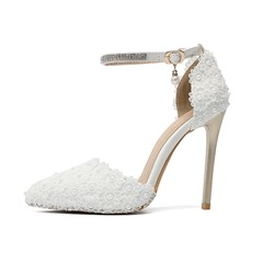 Shoespie Sexy Line-Style Buckle Rhinestone Pointed Toe Ultra-High Heel(≥8cm) Thin Shoes