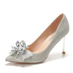 Shoespie Stylish Stiletto Heel Pointed Toe Rhinestone 8cm Thin Shoes