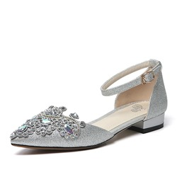 Shoespie Sexy Pointed Toe Buckle Thread Low Heel (1-3cm) Thin Shoes