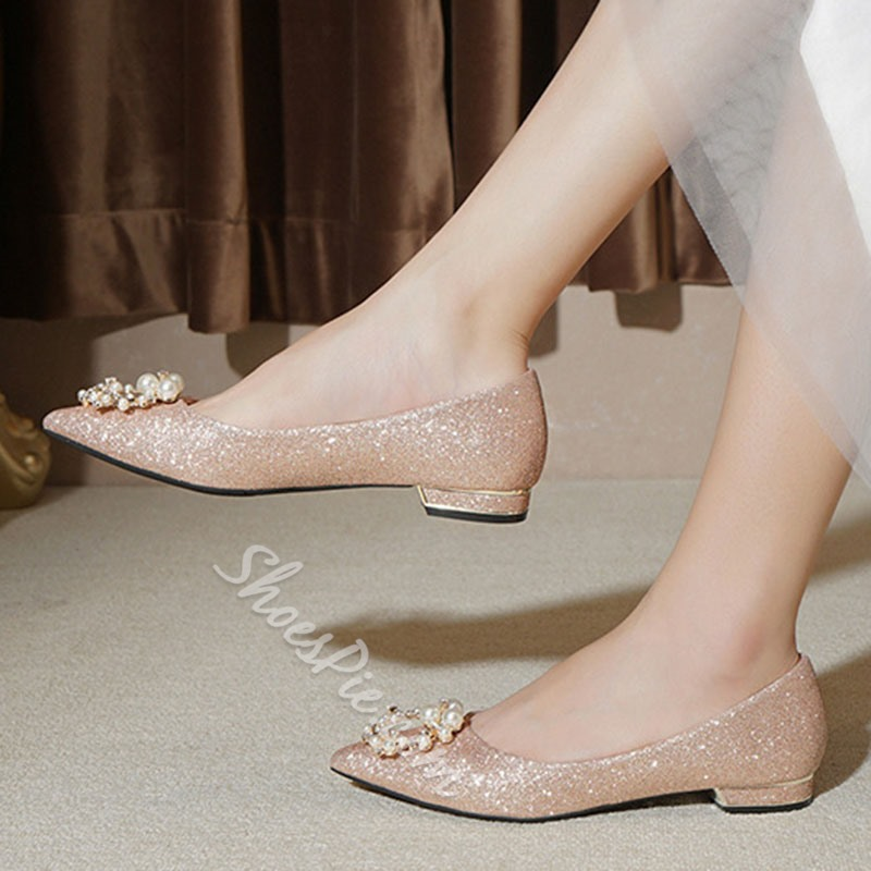 Shoespie Trendy Block Heel Slip-On Pointed Toe Low Heel (1-3cm) Thin Shoes