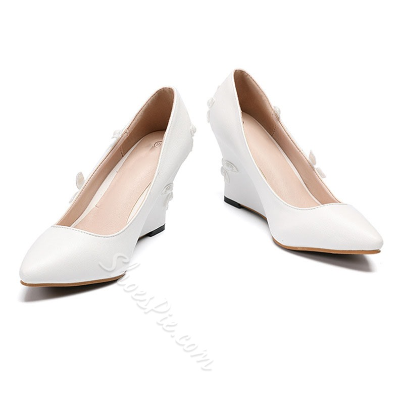 Shoespie Sexy Wedge Heel Slip-On Pointed Toe Plain Thin Shoes