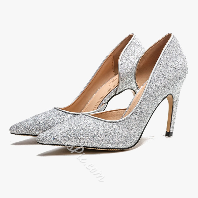 Shoespie Trendy Thread Slip-On Pointed Toe Banquet Thin Shoes