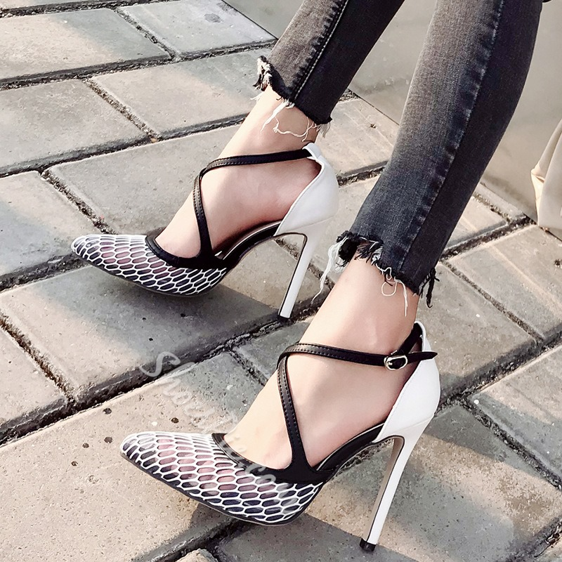 Shoespie Stylish Buckle Buckle Pointed Toe 11cm Thin Shoes