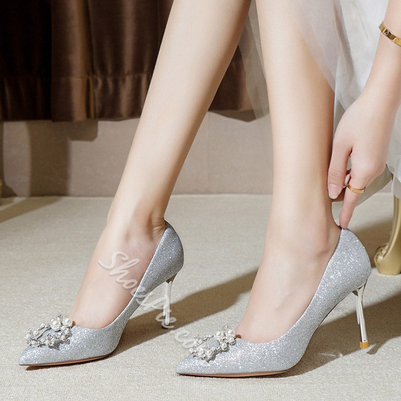 Shoespie Sexy Pointed Toe Stiletto Heel Slip-On 8cm Thin Shoes
