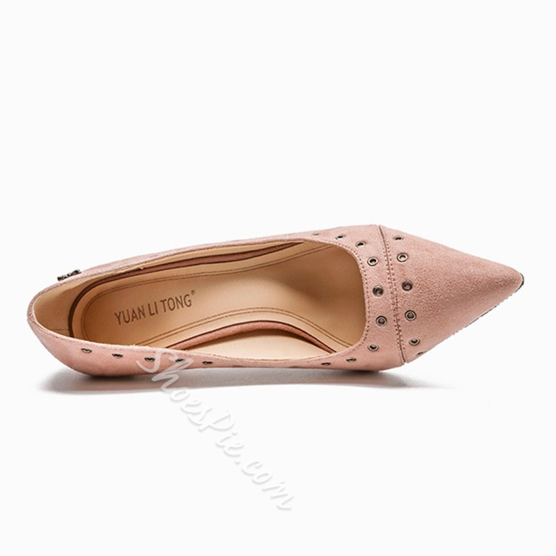 Shoespie Stylish Pointed Toe Thread Slip-On Ultra-High Heel(≥8cm) Thin Shoes