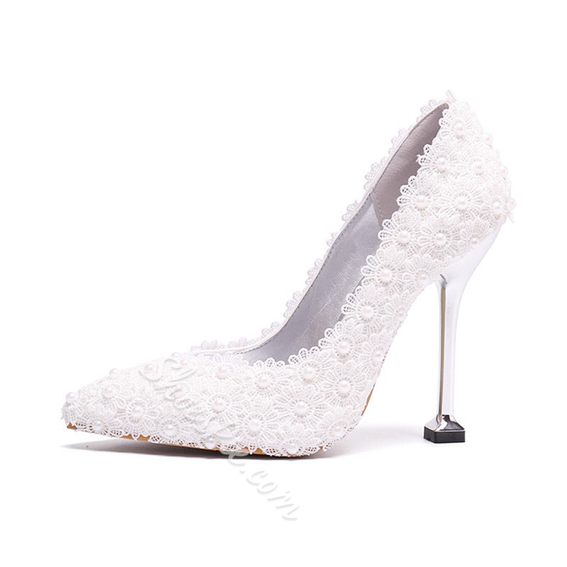 Shoespie Sexy Slip-On Pointed Toe Low-Cut Upper Bridal Shoes