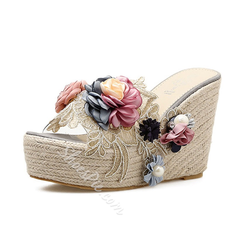 Shoespie Sexy Slip-On Thread Flip Flop Rubber Slippers
