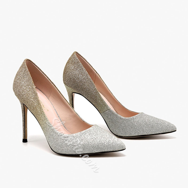 Shoespie Stylish Slip-On Pointed Toe Ultra-High Heel(≥8cm) Thin Shoes