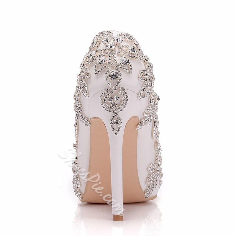 Shoespie Stylish Pointed Toe Slip-On Thread OL Bridal Shoes