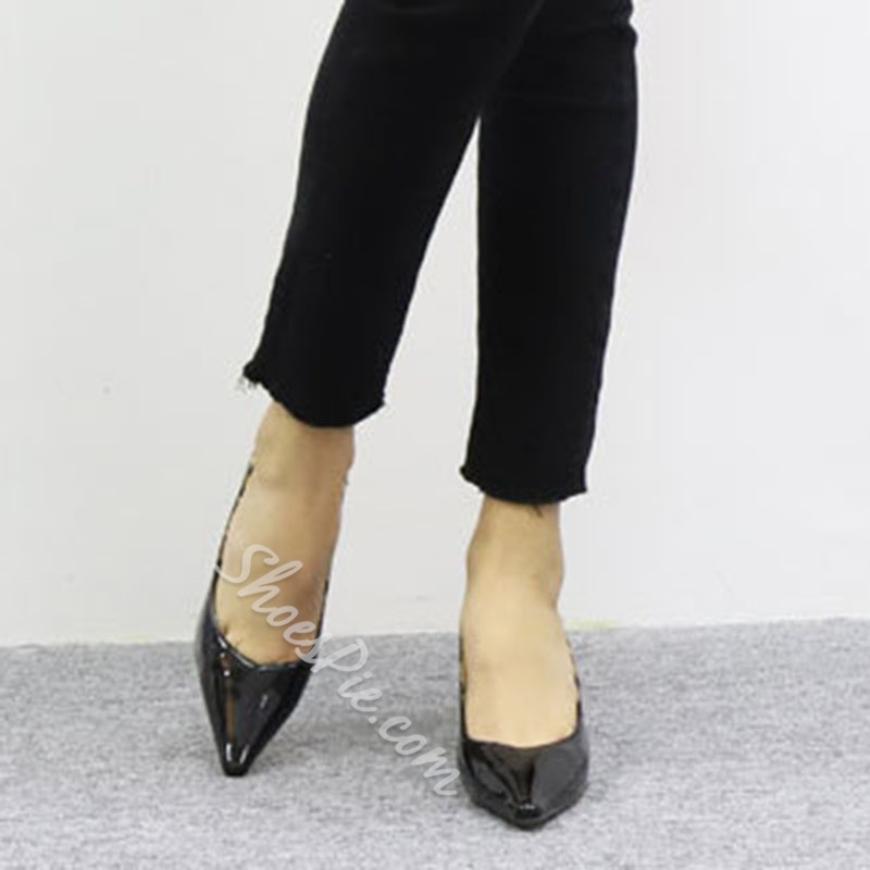 Shoespie Sexy Slip-On Pointed Toe Thread High Heel (5-8cm) Thin Shoes