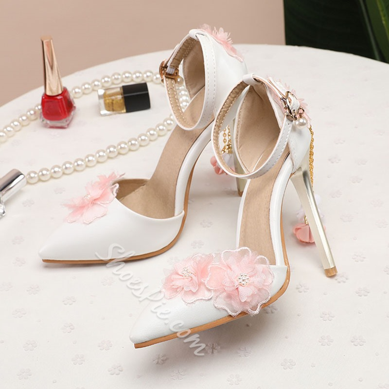 Shoespie Sexy Buckle Pointed Toe Line-Style Buckle Simple Thin Shoes