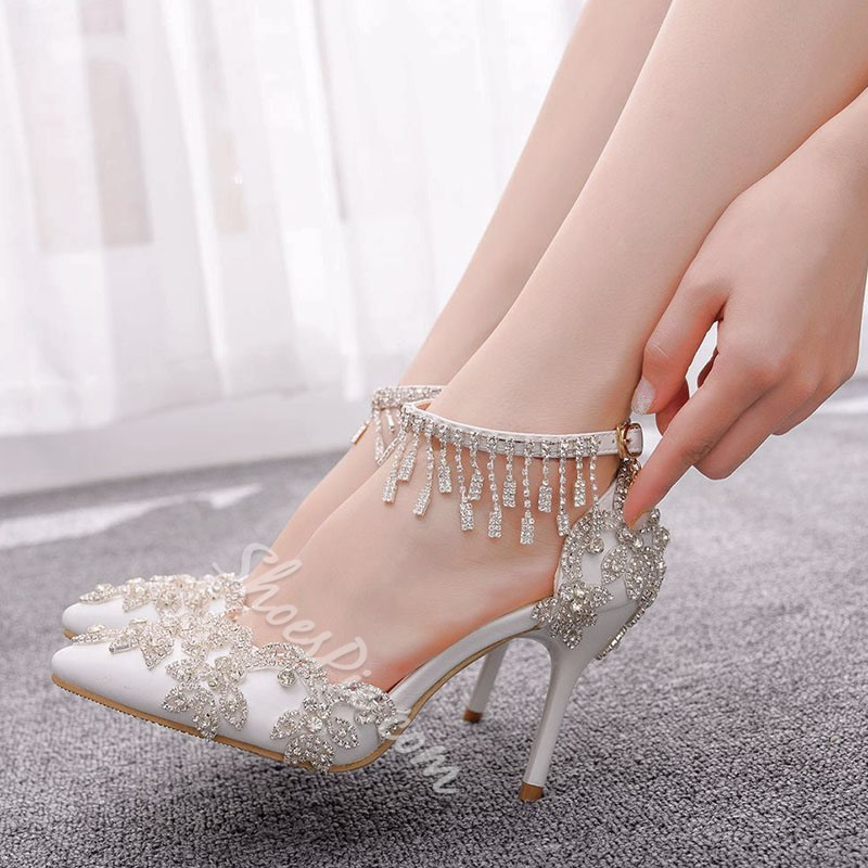 Shoespie Sexy Buckle Buckle Pointed Toe Plain Thin Shoes