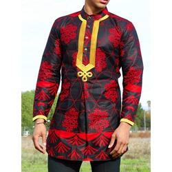 Plant Ethnic Straight Shirt