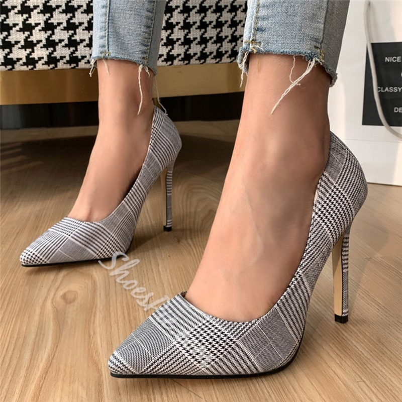 Shoespie Sexy Print Pointed Toe Slip-On Ultra-High Heel(≥8cm) Thin Shoes