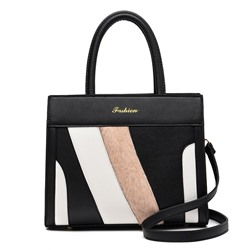 Shoespie PU Patchwork Rectangle Tote Bags