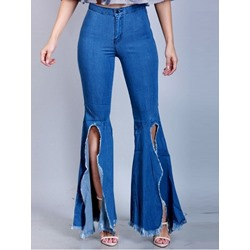 Casual Bellbottoms Zipper Slim Women's Jeans