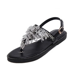 Shoespie Stylish Flat With Thong Buckle Low-Cut Upper Sandals