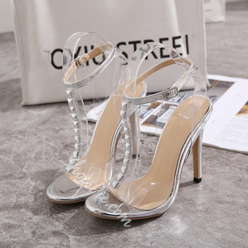 Shoespie Sexy T-Shaped Buckle Open Toe Patchwork Sandals