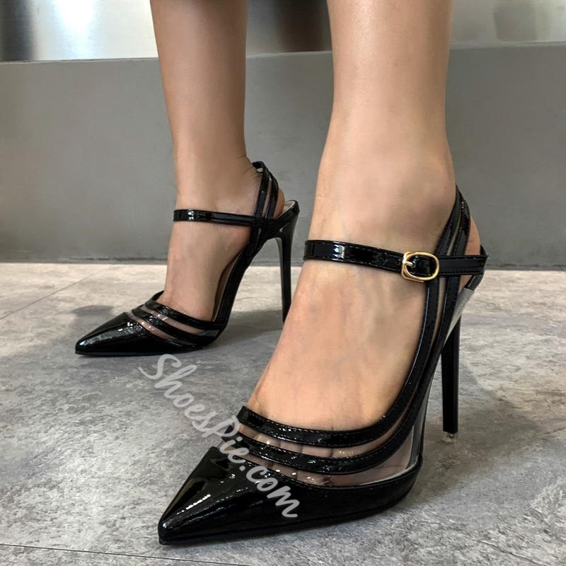 Shoespie Sexy Pointed Toe Stiletto Heel Buckle Casual Sandals