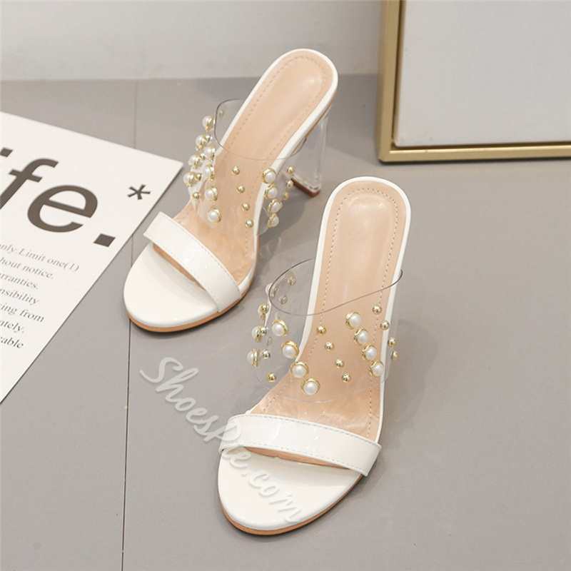 Shoespie Stylish Flip Flop Thread Chunky Heel Casual Slippers
