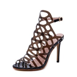 Shoespie Trendy Stiletto Heel Peep Toe Buckle Western Sandals