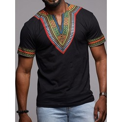 Casual Short Sleeve Straight T-shirt