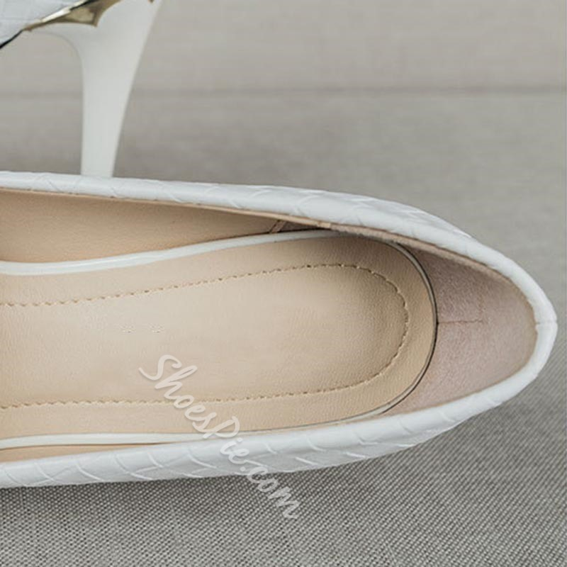Shoespie Stylish Thread Round Toe Slip-On Banquet Thin Shoes