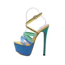 Shoespie Stylish Stiletto Heel Open Toe Buckle Strap Sandals
