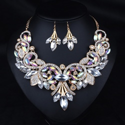Romantic Diamante Necklace Gift Jewelry Sets