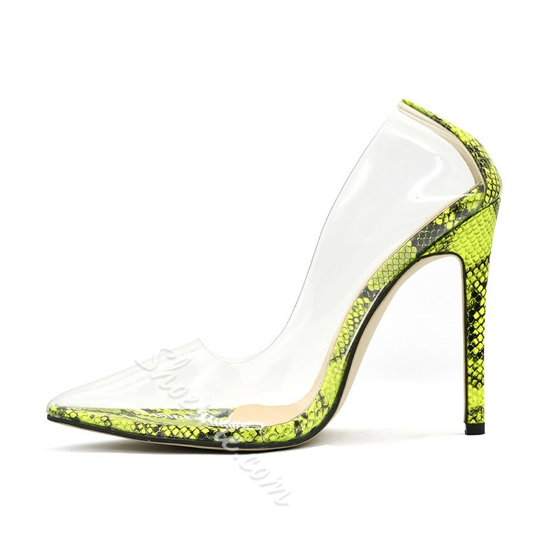 Shoespie Trendy Serpentine Stiletto Heel Slip-On Casual Stiletto Heels