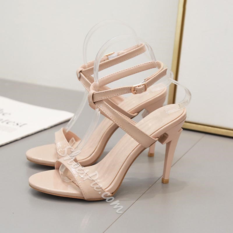 Shoespie Trendy Open Toe Stiletto Heel Buckle Casual Sandals