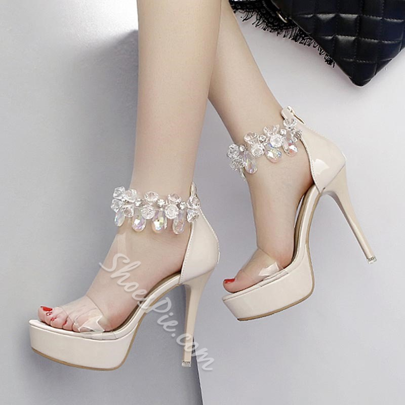 Shoespie Stylish Zipper Heel Covering Stiletto Heel Casual Sandals