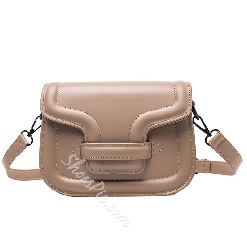 Shoespie PU Thread Rectangle Crossbody Casual Handbags