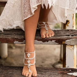 Diamante Female Wedding Vintage Anklets