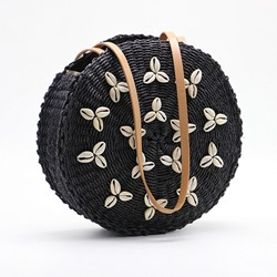 Shoespie Knitted Grass Appliques Circular Crossbody Bags
