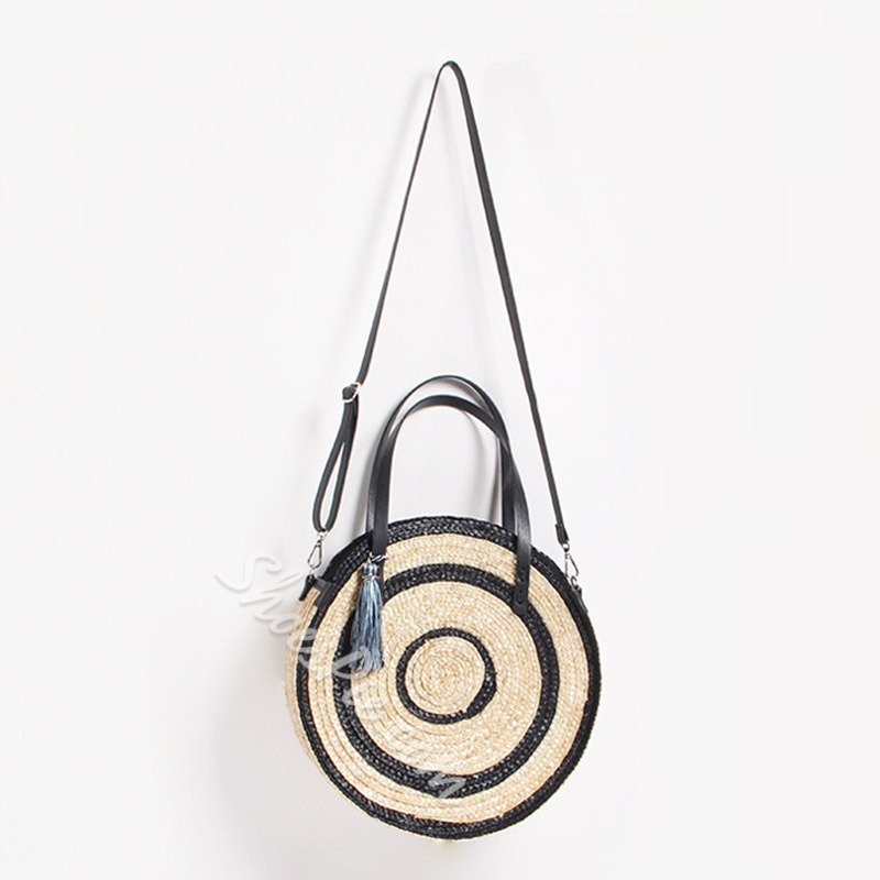 Shoespie Knitted Grass Circular Tote Bags
