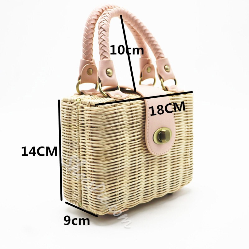 Shoespie Thread Knitted Plain Flap Tote Versatile Bags