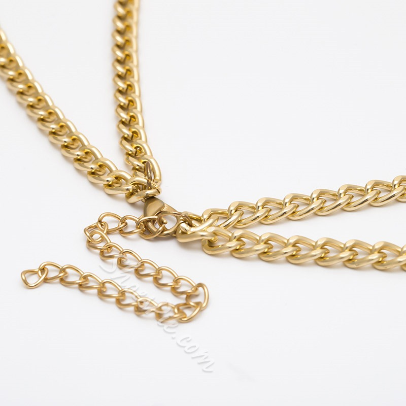 Vintage E-Plating Female Body Chain