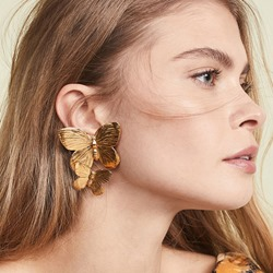Alloy Butterfly Sweet Holiday Earrings