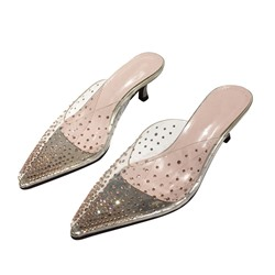 Shoespie Sexy Slip-On Closed Toe Stiletto Heel Summer Slippers