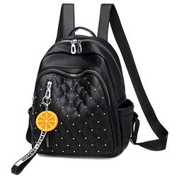 Shoespie Plaid Rivet Thread PU Backpacks