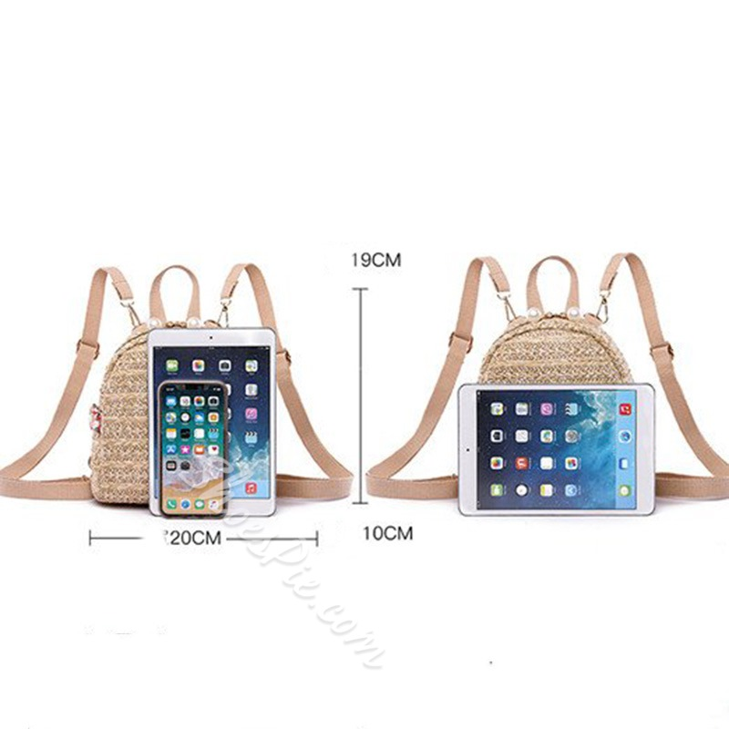 Shoespie Knitted Grass Casual Backpacks