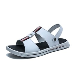 Shoespie Men's Flat Heel Slip-On Open Toe Casual Sandals